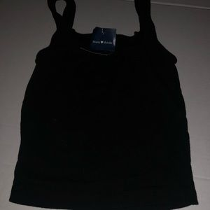 Brandy Melville black crop top tank top sz Xs NWT